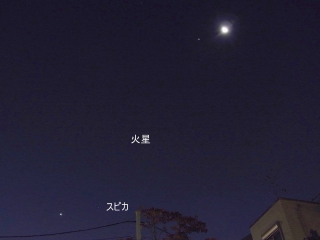 2015年12月 月齢22.1 木星と下弦...